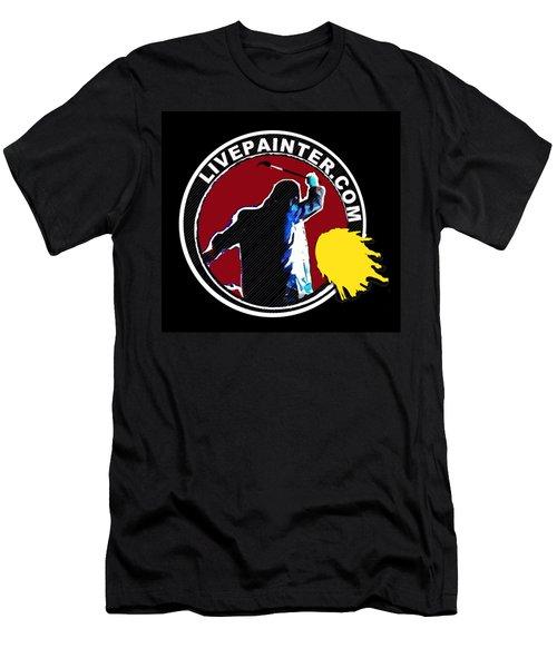 second Official Live Painter Logo  Men's T-Shirt (Athletic Fit)
