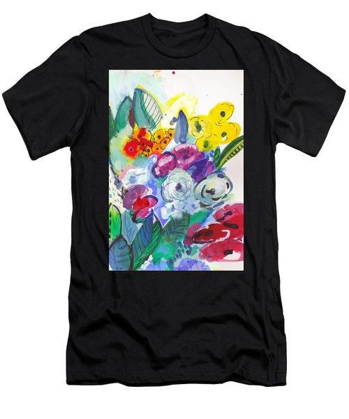 Secret Garden With Wild Flowers Men's T-Shirt (Athletic Fit)