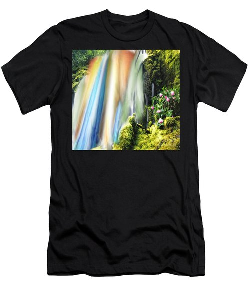 Secret Waterfall Of Life Men's T-Shirt (Athletic Fit)