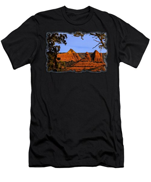 Men's T-Shirt (Athletic Fit) featuring the photograph Sedona Red Rocks by Mark Myhaver