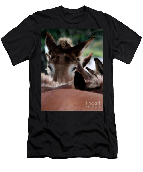 Men's T-Shirt (Slim Fit) featuring the photograph See No Evil by Polly Peacock
