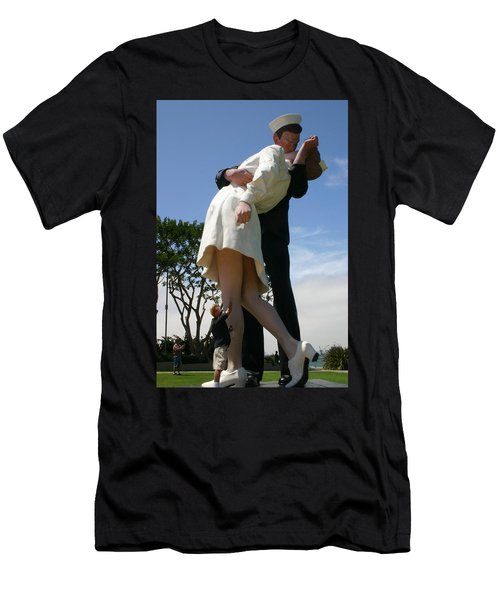 Men's T-Shirt (Slim Fit) featuring the photograph Seeeeport Village San Diego by Marie Neder