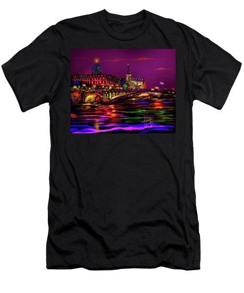 Seine, Paris Men's T-Shirt (Slim Fit) by DC Langer