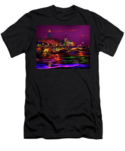 Seine, Paris Men's T-Shirt (Athletic Fit)