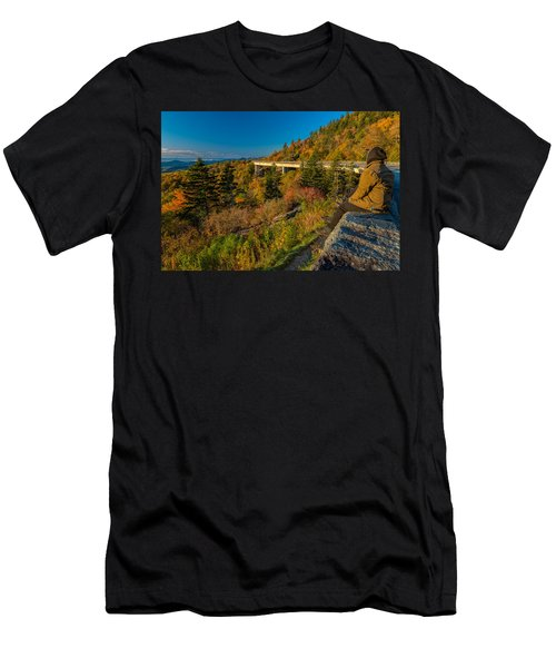Seize The Day At Linn Cove Viaduct Autumn Men's T-Shirt (Athletic Fit)