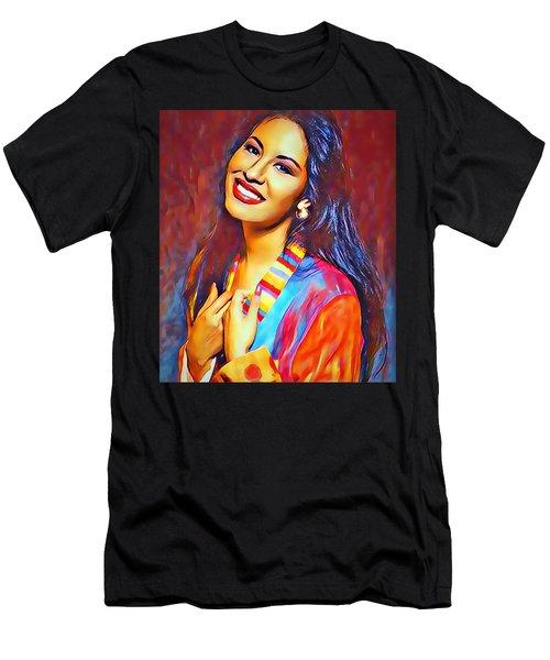 Selena Queen Of Tejano  Men's T-Shirt (Athletic Fit)