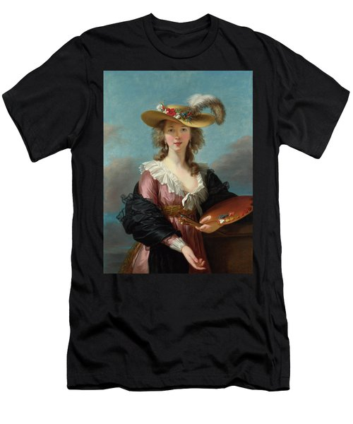 Self Portrait In A Straw Hat Men's T-Shirt (Athletic Fit)