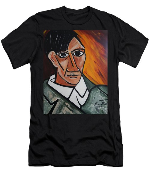 Self Portrait Of Picasso Men's T-Shirt (Athletic Fit)