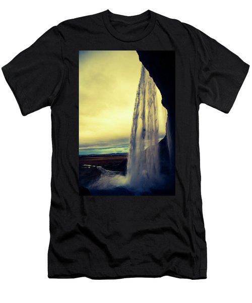 Seljalandsfoss Sunset Men's T-Shirt (Athletic Fit)