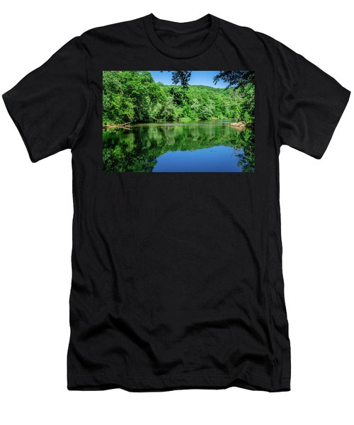 Semi Placid Stream Men's T-Shirt (Athletic Fit)