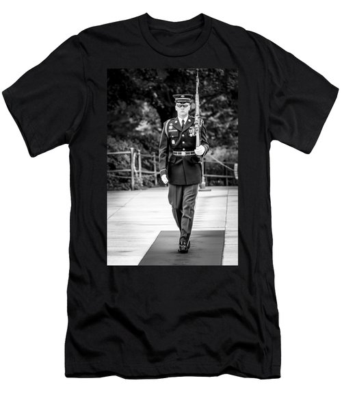 Men's T-Shirt (Athletic Fit) featuring the photograph Sentinel At The Tomb Of The Unknowns by David Morefield