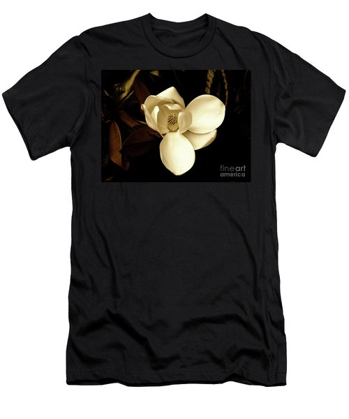 Sepia-toned Magnolia Men's T-Shirt (Athletic Fit)
