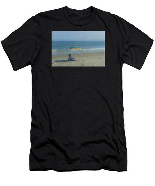 September Beach Reader Men's T-Shirt (Athletic Fit)
