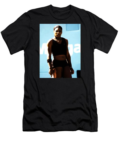 Serena Williams Match Point IIi Men's T-Shirt (Slim Fit) by Brian Reaves