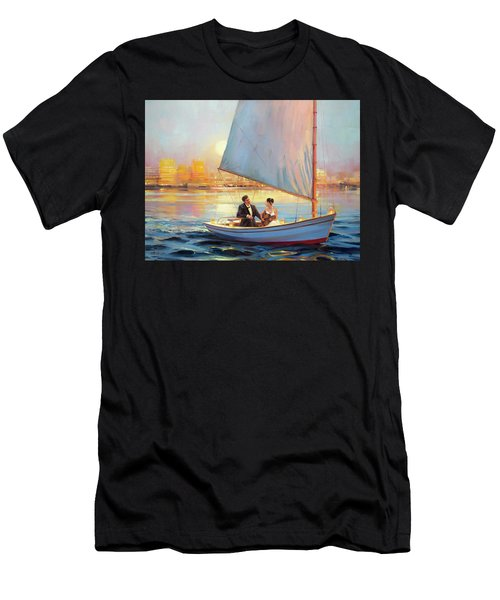 Men's T-Shirt (Athletic Fit) featuring the painting Serenade by Steve Henderson