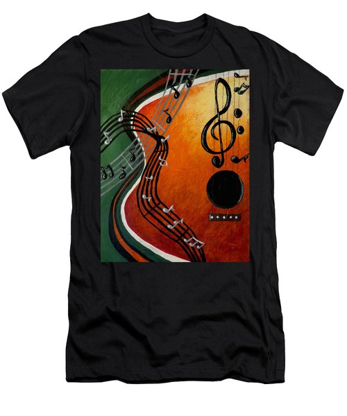 Men's T-Shirt (Slim Fit) featuring the painting Serenade by Teresa Wing