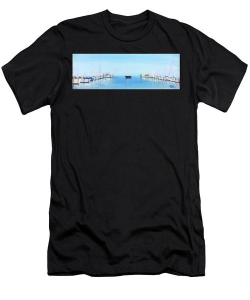 Serene Atlantic Highlands Marina Men's T-Shirt (Athletic Fit)