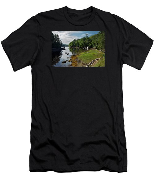 Serene Backyard Men's T-Shirt (Athletic Fit)