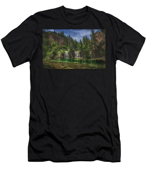 Serene Hanging Lake Waterfalls Men's T-Shirt (Athletic Fit)