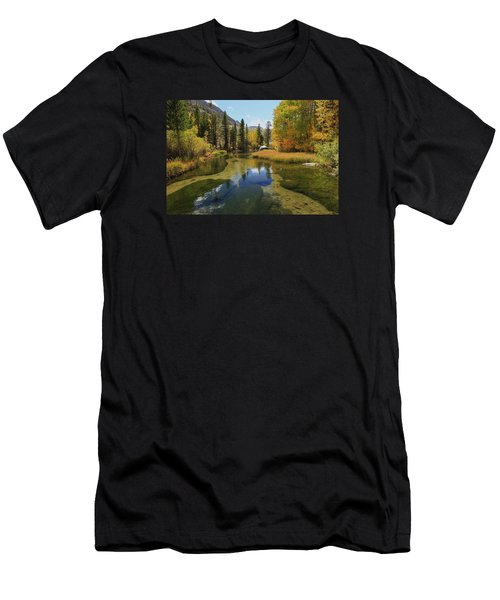 Men's T-Shirt (Athletic Fit) featuring the photograph Serene Stream by Sean Sarsfield