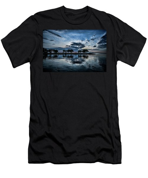 Serene Summer Water And Clouds Men's T-Shirt (Athletic Fit)