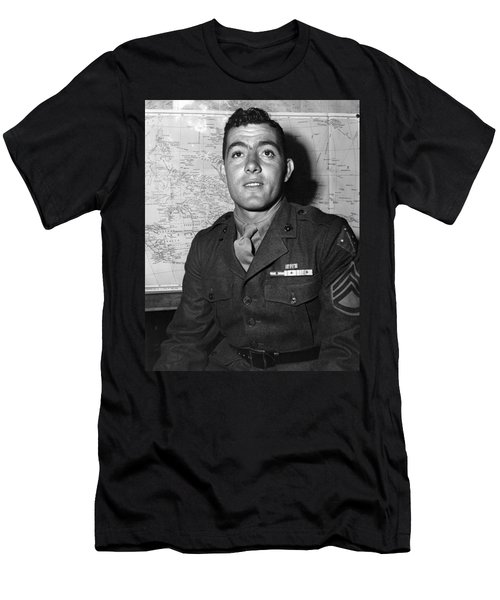 Sergeant John Basilone - World War Two - 1943 Men's T-Shirt (Athletic Fit)