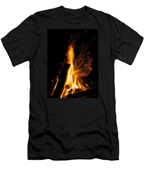 Set The Night On Fire Men's T-Shirt (Slim Fit) by Jane Eleanor Nicholas