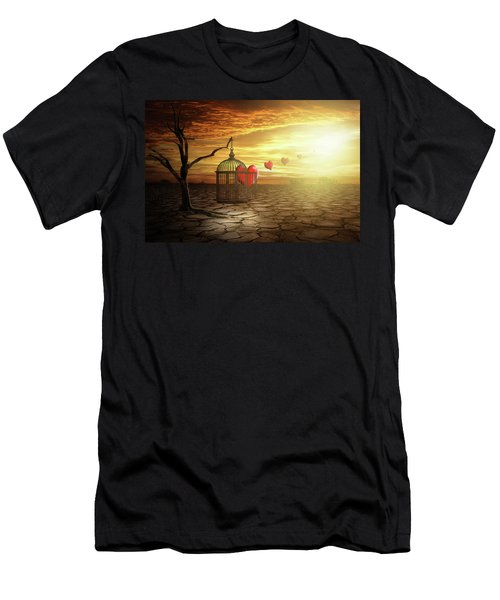 Men's T-Shirt (Slim Fit) featuring the digital art Set Your Self Free by Nathan Wright