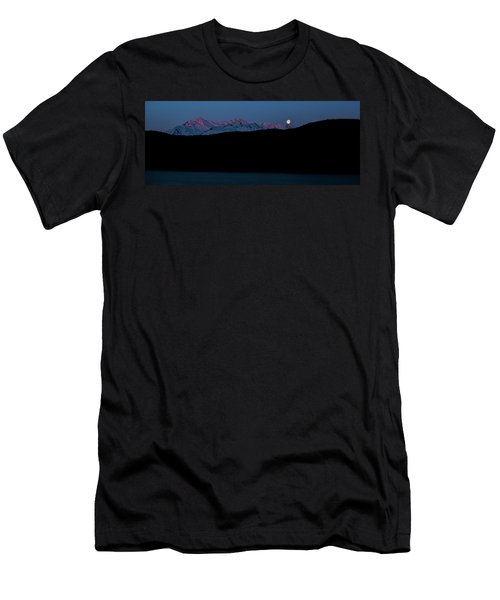 Setting Moon Over Alaskan Peaks II Men's T-Shirt (Athletic Fit)