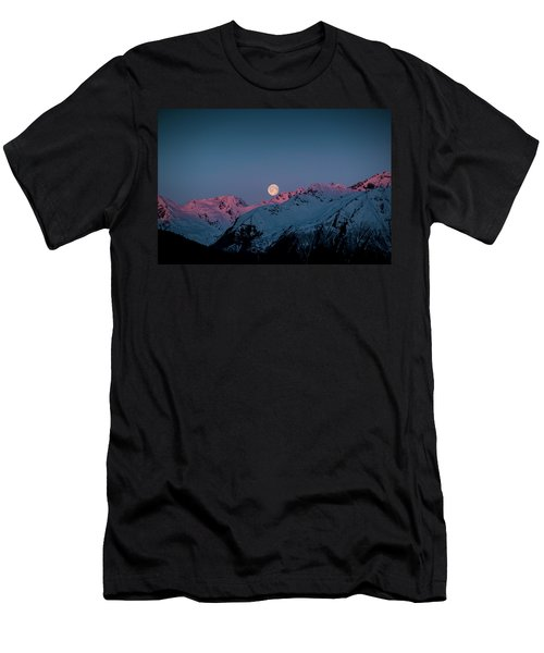Setting Moon Over Peaks IIi Men's T-Shirt (Athletic Fit)