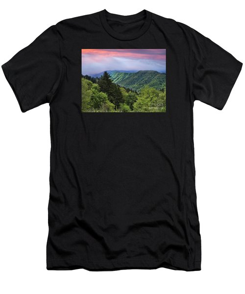 Setting Sun Over The Smokey Mountains Men's T-Shirt (Athletic Fit)