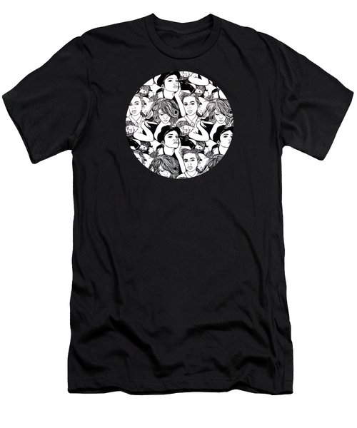 Men's T-Shirt (Slim Fit) featuring the painting Seven Beauties by Malinda  Prudhomme