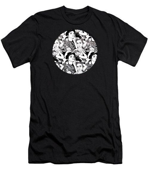 Seven Beauties Men's T-Shirt (Slim Fit) by Malinda  Prudhomme