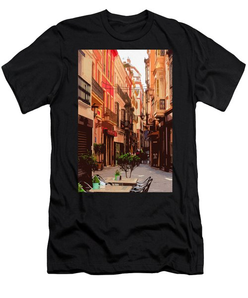 Seville, The Colorful Streets Of Spain - 02 Men's T-Shirt (Athletic Fit)