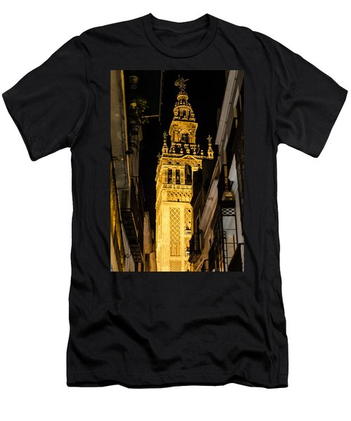 Seville - The Giralda At Night  Men's T-Shirt (Athletic Fit)