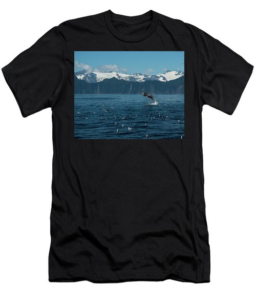 Seward Whale Breach Men's T-Shirt (Athletic Fit)