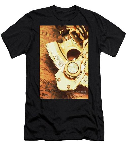 Sextant Sailing Navigation Tool Men's T-Shirt (Athletic Fit)
