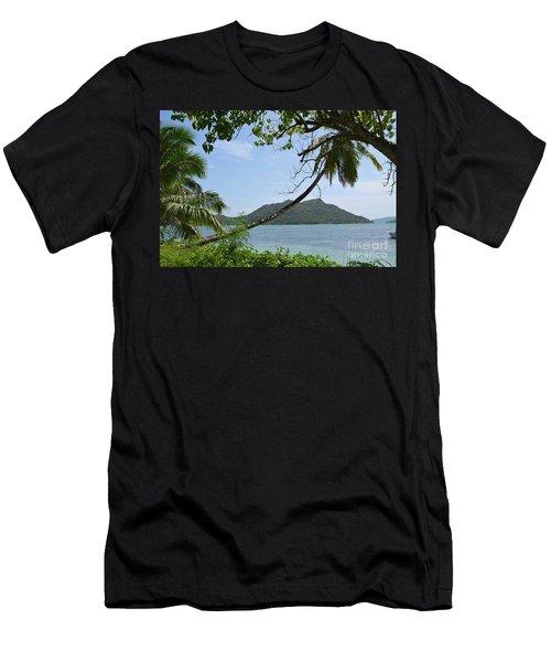 Men's T-Shirt (Slim Fit) featuring the digital art Seychelles Islands 2 by Eva Kaufman
