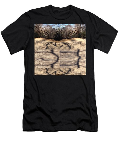 Shadow Crack Lines Men's T-Shirt (Slim Fit)