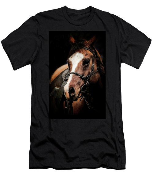 Shadowed Horse Men's T-Shirt (Athletic Fit)