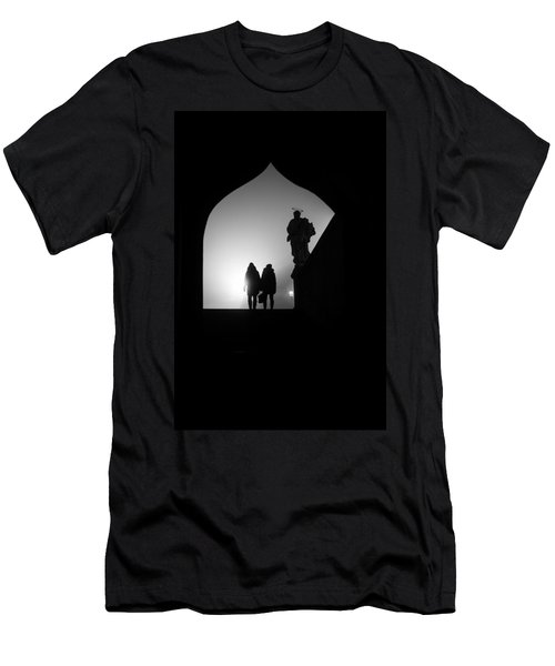Men's T-Shirt (Slim Fit) featuring the photograph Shadows by Jenny Rainbow