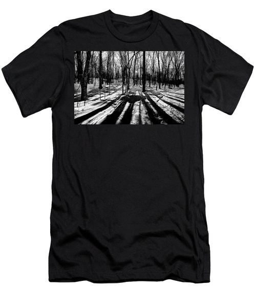 Shadows On The Snowy Landscape Men's T-Shirt (Athletic Fit)