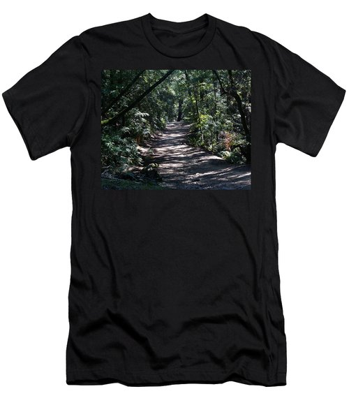 Shady Road On Mt Tamalpais Men's T-Shirt (Athletic Fit)