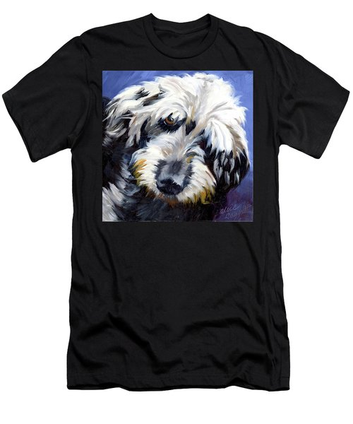 Shaggy Dog Portrait Men's T-Shirt (Athletic Fit)