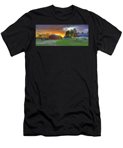 Shaker Animals At Sunset Men's T-Shirt (Athletic Fit)