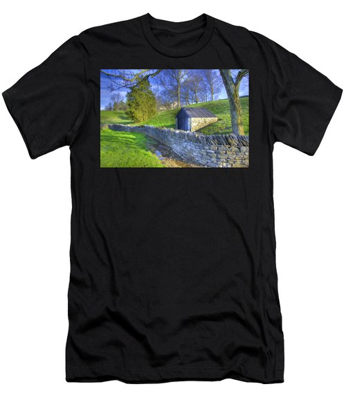 Shaker Stone Wall 6 Men's T-Shirt (Athletic Fit)