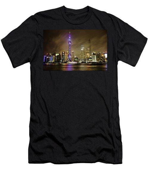 Shanghai Skyline Men's T-Shirt (Athletic Fit)