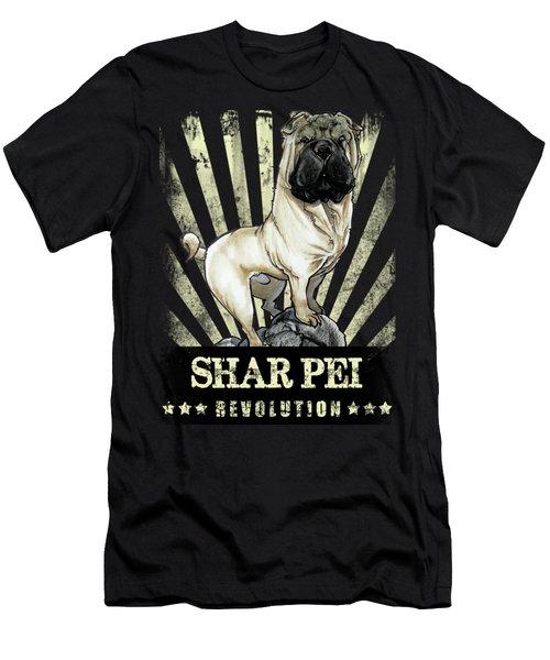 Shar Pei Revolution Men's T-Shirt (Athletic Fit)
