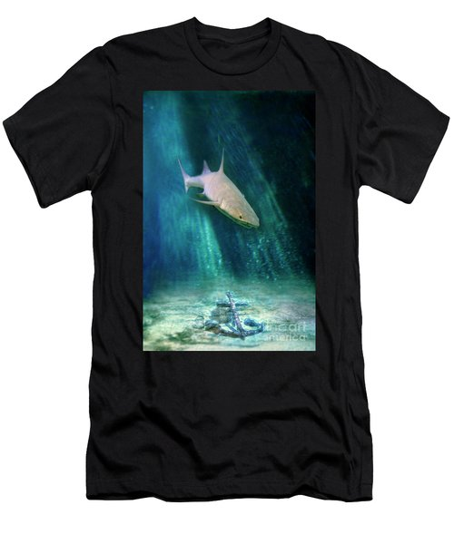 Men's T-Shirt (Slim Fit) featuring the photograph Shark And Anchor by Jill Battaglia