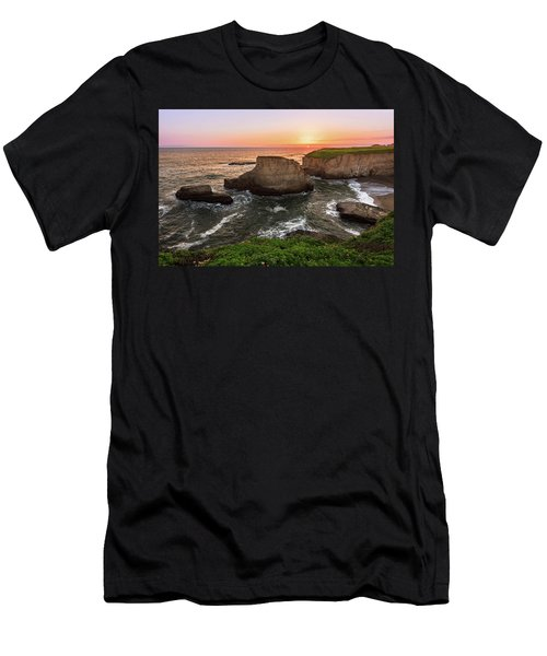 Men's T-Shirt (Athletic Fit) featuring the photograph Shark Fin Cove Sunset by John Hight
